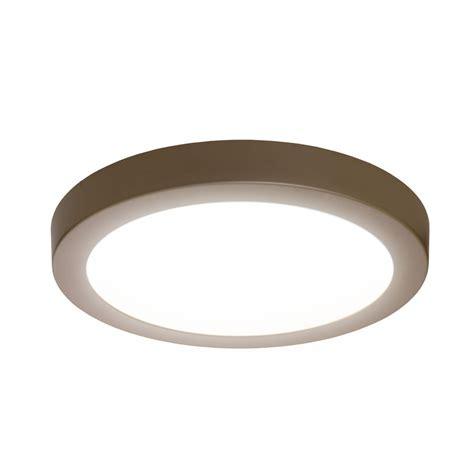 sylvania led lights shop sylvania 15 in w brushed nickel led flush mount light