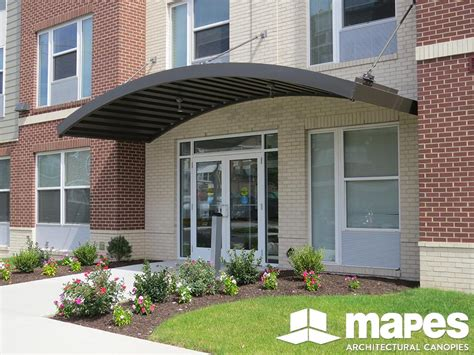 Metal Canopy by Custom Curved And Arched Mapes Canopies Aluminum