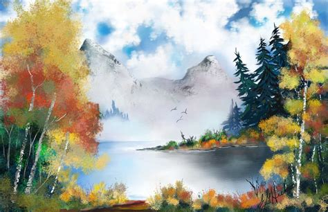 bob ross painting guide digital painting software corel painter 2018