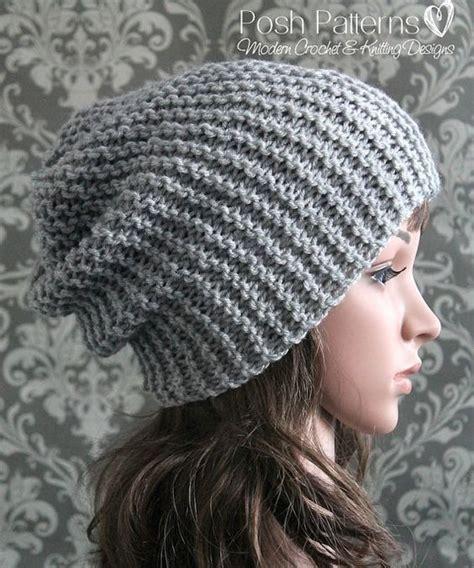 simple baby beanie knitting pattern knitting pattern easy beginner knit slouchy hat pattern
