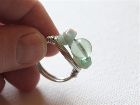 how to make a beaded ring simple bead ring tutorial emerging creatively jewelry