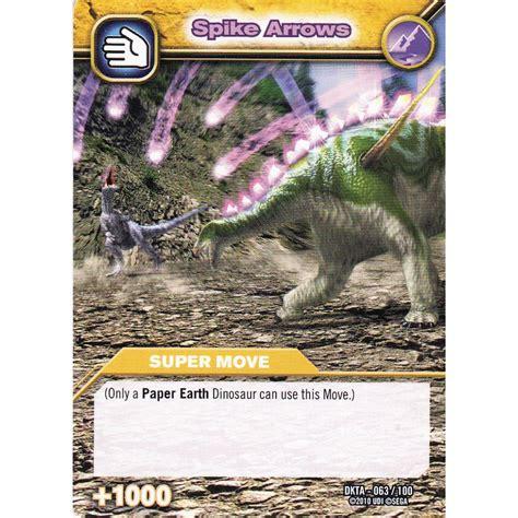 how to make dinosaur king cards deck dinosaur king card dkta 063 spike arrows common