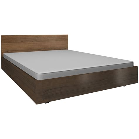 walnut bed frame hover to zoom