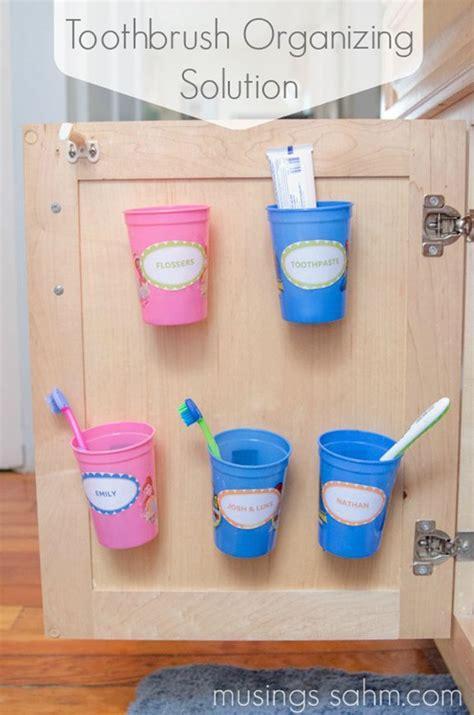 bathroom toothbrush storage 15 minute diy bathroom organization ideas diy ready