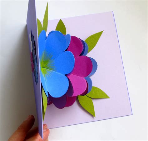 how to make pop up flowers card in paper mmmcrafts made it ms pop up flower card