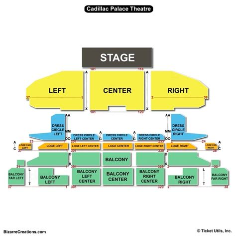 Cadillac Theater Seating by Cadillac Theater Seating Chart Best Seat 2018