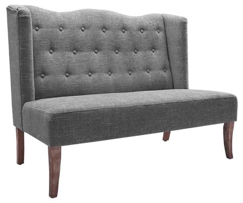 settee with tufted back transitional upholstered