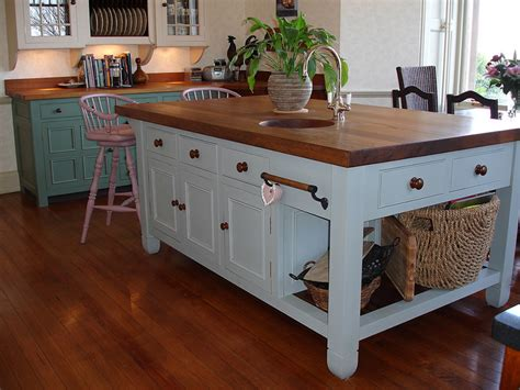 furniture style kitchen island 27 blue kitchen ideas pictures of decor paint cabinet