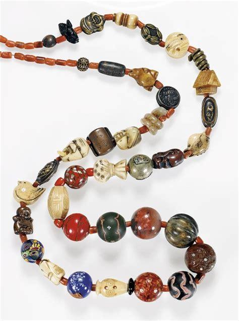 ojime antique antique japanese ojime bead necklace lot 111