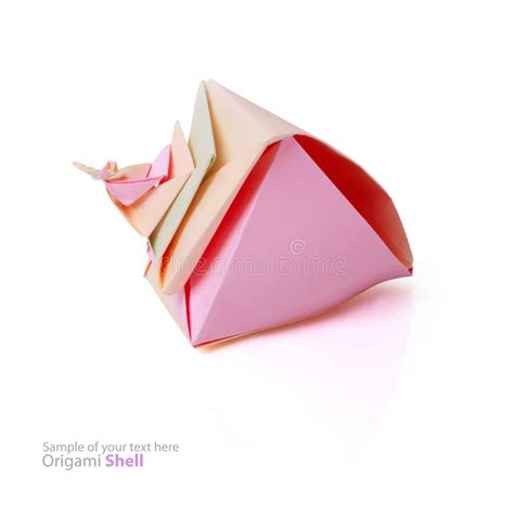 origami shell origami shell stock photos image 33977013