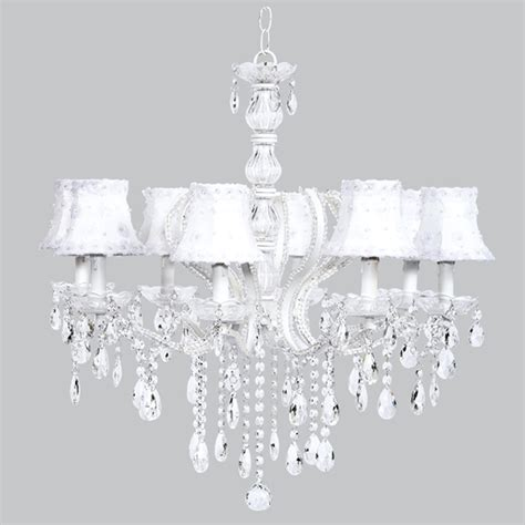 beaded chandelier shades eight arm pageant white beaded chandelier with white petal