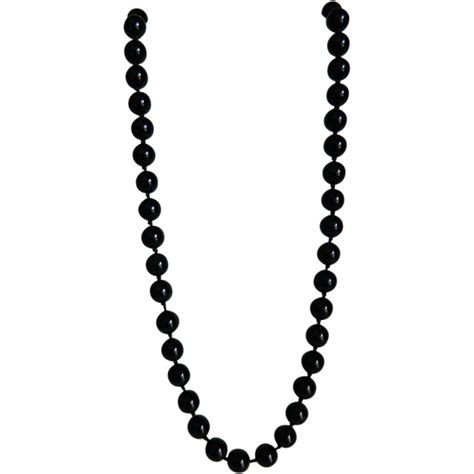 Vintage Black Glass Bead Necklace From Theopulentowl On