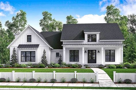 new farmhouse plans budget friendly modern farmhouse plan with bonus room 51762hz architectural designs house