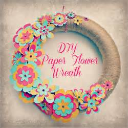 simple diy crafts for easy diy paper flower wreath sweet lil you