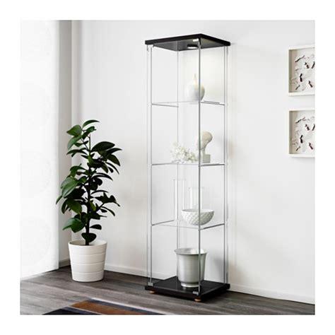 detolf glass door cabinet detolf glass door cabinet black brown 43x163 cm ikea