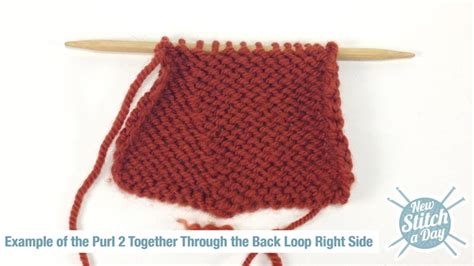 knit in back loop how to knit the purl two together through the back loop