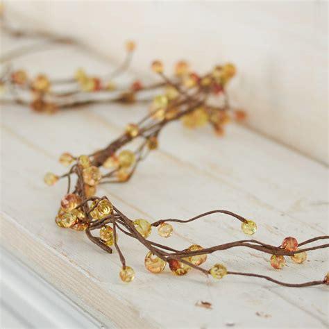 orange bead garland orange acrylic beaded twig garland garlands floral