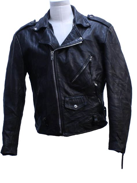 leather with zips 90 s vintage leather jacket 90s open road mens black leather biker jacket with zip front