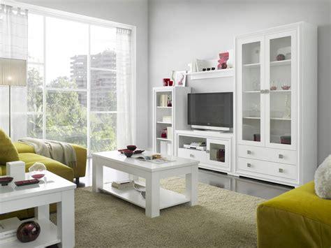mueble de sal 243 n blanco lacado - Salones En Blanco