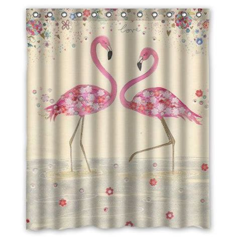 Bathroom Curtain Ideas graceful flamingo custom shower curtain 60 quot x 72 quot bathroom