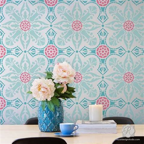 wall stencils for painting rooms damask wall stencils large wall stencils for diy