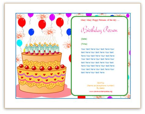 card in word birthday card word template gangcraft net