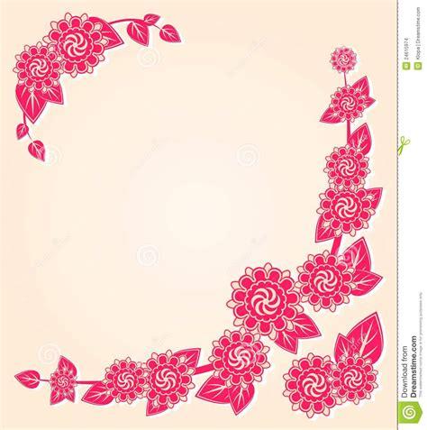 card corner pink flowers at the floral card corner stock images