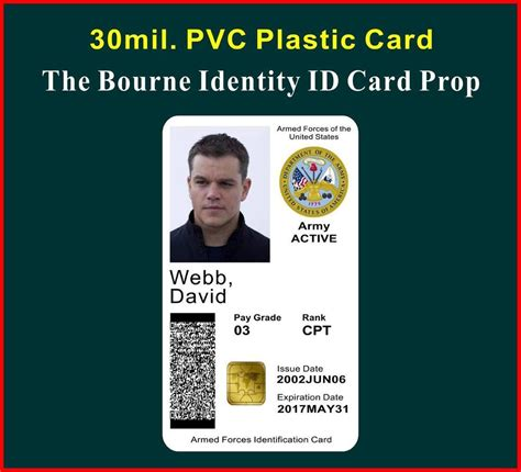 how to make a identity card the bourne identity id card badge prop david webb