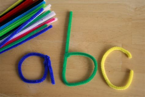 with pipe cleaners learning letters with pipe cleaners make and takes