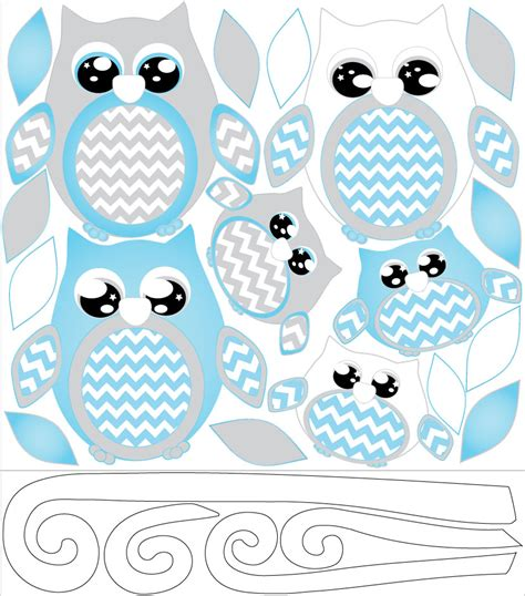 owl wall decals nursery blue owl wall decals owl stickers owl nursery wall decor