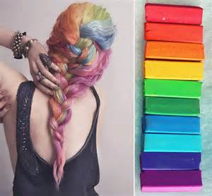 chalk paint your hair rainbow set hair chalk hair tint hair stain ombre hair
