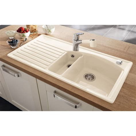 ceramic sinks kitchen villeroy boch arcora 60 1010mm x 510mm 1 5 bowl white
