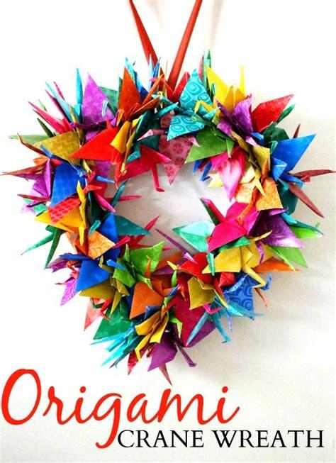origami wreath origami crane wreath craft tutorial raising whasians