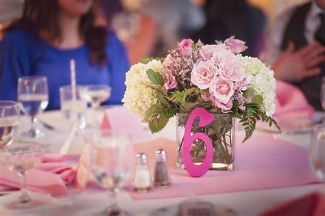 simple wedding reception centerpieces pink wedding reception decor simple centerpieces