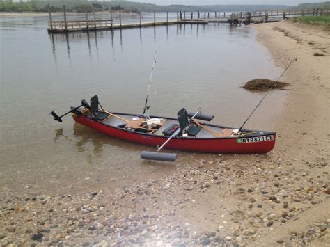 Kayak Electric Motor by My Canoe Has Outriggers And Electric Motor Saltwater