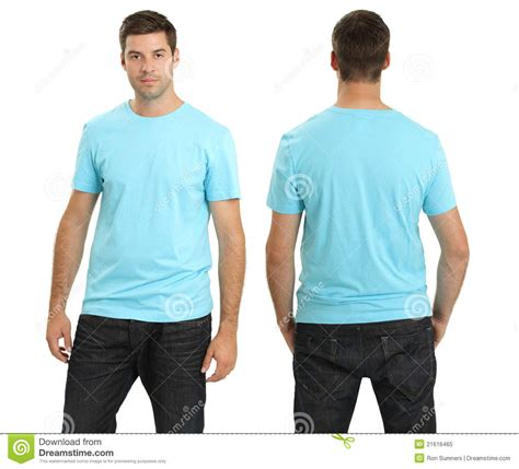 wearing lights wearing blank light blue shirt stock image image