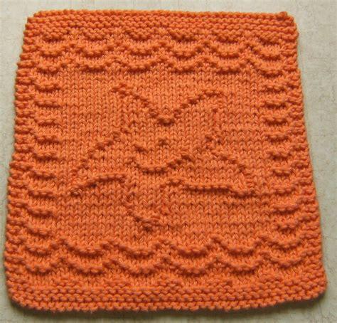 knitted starfish pattern cloverlaine baby starfish cloth