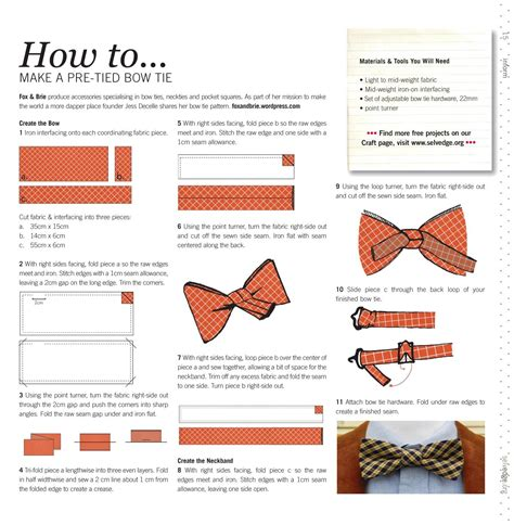 how to make a bow how to make a bow tie selvedge magazine