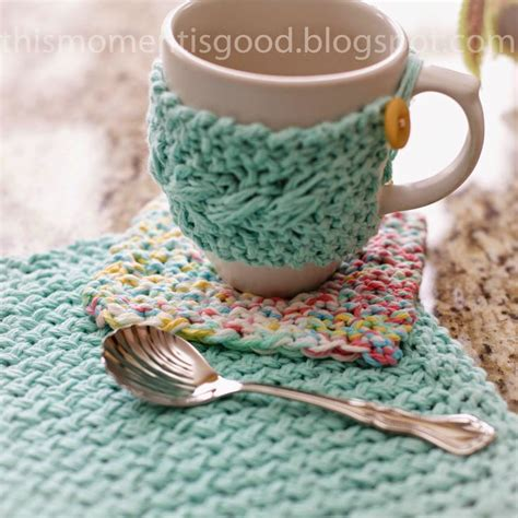 how to knit a mug cosy decorate your home with free crochet doily patterns