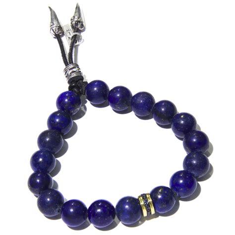 mens gold bead bracelet gold sapphire lapis bead s bracelet
