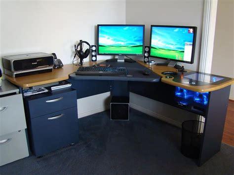 computer desk with built in computer custom computer built into desk 187 woodworktips