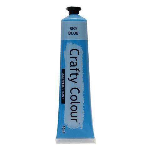 Crafty Colour 75ml Sky Blue Acrylic Paint Bunnings Warehouse
