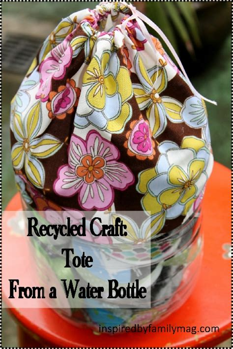 recycled water bottle crafts for recycled water bottle craft tote organizer inspired by