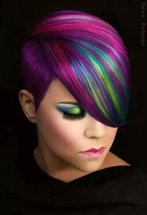 multie colored bob hair styles short hairstyles with color streaks short hairstyle 2013