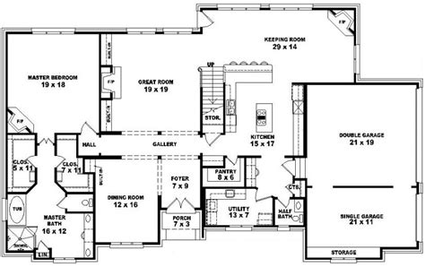 story bedroom 4 bedroom 2 story house plans split bedroom 2 story 5