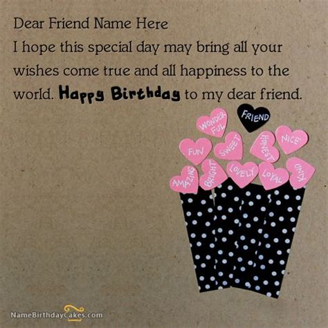 how to make wishing cards 23 best images about birthday name cards for friends on