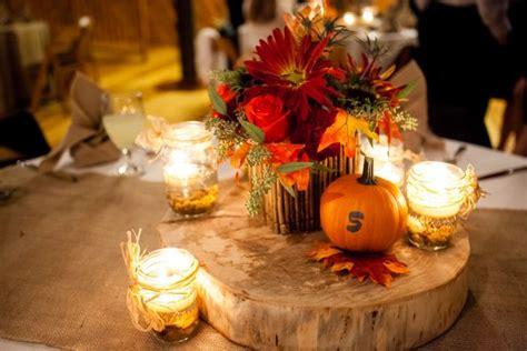 autumn wedding centerpieces for tables autumn wedding color palette brown orange wedding colors