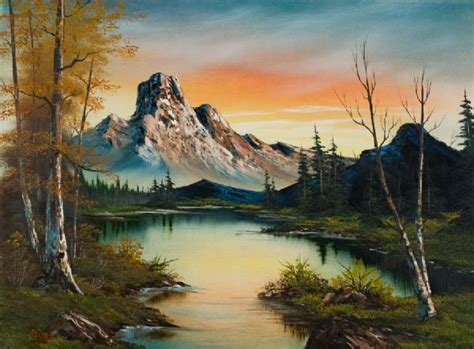 bob ross painting house bob ross mountain at sunset painting for sale