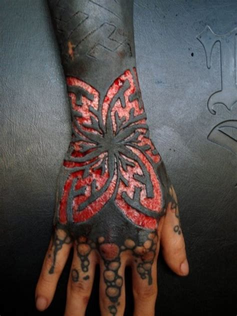 blackwork tattoo and scarification ink pinterest