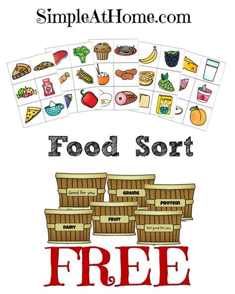 free food groups sort printables free homeschool deals